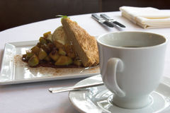 Apple tart and coffee Royalty Free Stock Photo
