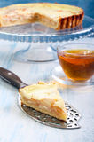 Apple tart. With cream filling Stock Images