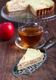 Apple tart. With cream filling Stock Image