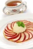 Apple tart, flat apple pie Stock Photo