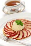 Apple tart, flat apple pie Stock Photos