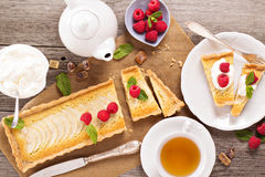 Apple tart with frangipane Stock Image