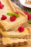 Apple tart with frangipane Royalty Free Stock Photos