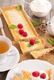 Apple tart with frangipane Royalty Free Stock Photo