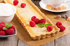 Apple tart with frangipane Stock Photography