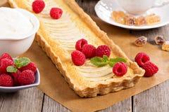 Apple tart with frangipane Stock Photography