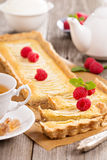 Apple tart with frangipane Royalty Free Stock Photo