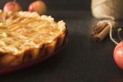 Apple tart in honey-lemon filling Royalty Free Stock Photography