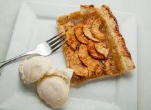 Apple Tart. An apple tart with ice cream Stock Photos