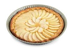 Apple tart isolated Royalty Free Stock Photography
