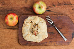 Apple Tart pie from above Royalty Free Stock Photography