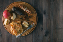 Apple Tart. Puff pastry and cinnamon. Royalty Free Stock Photo