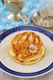 Apple tart with puff pastry dome Stock Photography