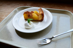 Apple tart. Serve with cream cheese Royalty Free Stock Images