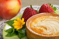 Apple Tart, Strawberries and an Appe Royalty Free Stock Images