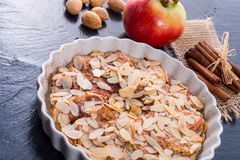 Apple tart with zimt Royalty Free Stock Photo