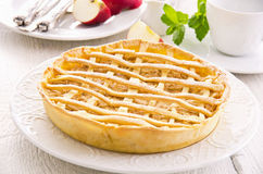 Apple Tarte with Fresh Apples Stock Image