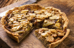 Apple Tarte with Fresh Apples Stock Images