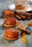 Apple tarte tatin with cinnamon. Royalty Free Stock Image