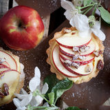 Apple tartlets Stock Photos