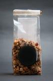 Apple tea. Bag on black Stock Photography