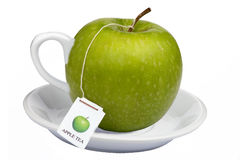 Apple tea at breakfast warm hot drink Royalty Free Stock Image