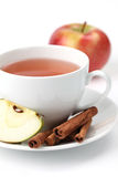 Apple tea with cinnamon Royalty Free Stock Images