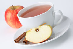 Apple tea with cinnamon Stock Photo