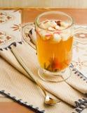 Apple tea with cinnamon Royalty Free Stock Photos
