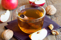 Apple tea with cinnamon royalty free stock photography
