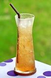 Apple tea with ice Stock Photo