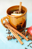 Apple tea with spices in a cup Royalty Free Stock Image