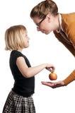 Apple for the teacher stock image