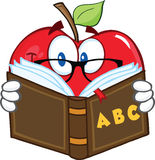 Apple Teacher Character Reading A Book Stock Photography