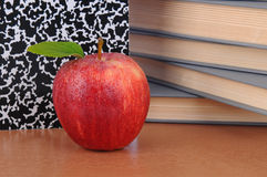 Apple on Teachers Desk Stock Photos