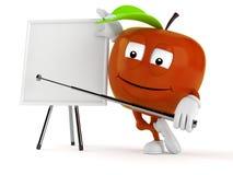 Apple tecken med tom whiteboard Royaltyfri Bild