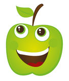 Apple tecknad film Fotografering för Bildbyråer
