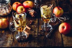 Apple temperou a bebida fotografia de stock royalty free