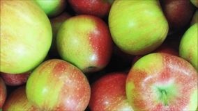 Apple texture. In the kitchen stock video footage