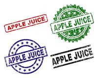 APPLE texturisé grunge JUICE Seal Stamps illustration de vecteur