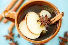 Apple-thee met kruiden in een kop Royalty-vrije Stock Foto's