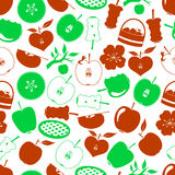 Apple theme simple icons seamless pattern Royalty Free Stock Image