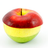 Apple three-coloured. Stock Images