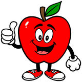 Apple with Thumbs Up Royalty Free Stock Photo
