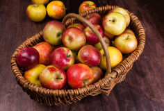 Apple time. Cart Polish apples - natural and ecological Royalty Free Stock Photos