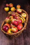 Apple time. Cart Polish apples - natural and ecological Stock Photo