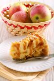 Apple and toffee caramel cake, Stock Image