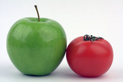 Apple and tomato Stock Photography