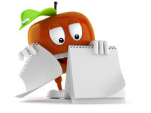 Apple Toon με το κενό ημερολόγιο Στοκ Φωτογραφίες