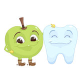 Apple and Tooth Stock Photography